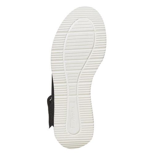 Sandali in pelle da donna bata, nero, 563-6448 - 26