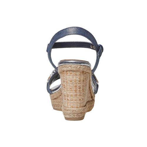 Sandali da donna con applicazioni di strass bata, blu, 769-9575 - 17