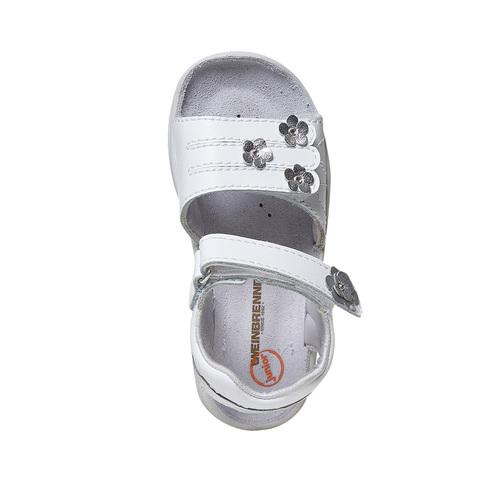 Sandali in pelle da bambina, bianco, 264-1198 - 19