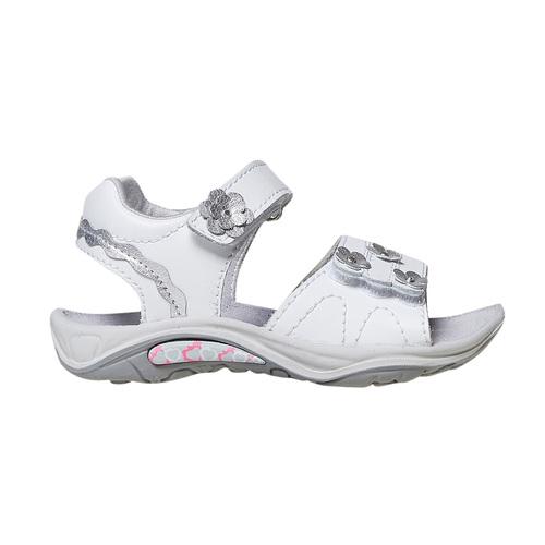 Sandali in pelle da bambina, bianco, 264-1198 - 15
