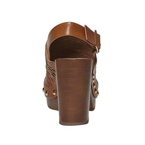 Sandali da donna con perforazioni bata, marrone, 761-3599 - 17