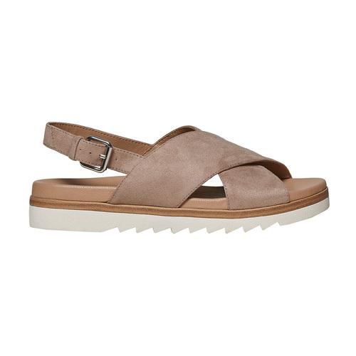 Sandali da donna con suola appariscente bata, beige, 569-2436 - 15