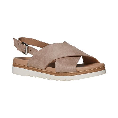 Sandali da donna con suola appariscente bata, beige, 569-2436 - 13
