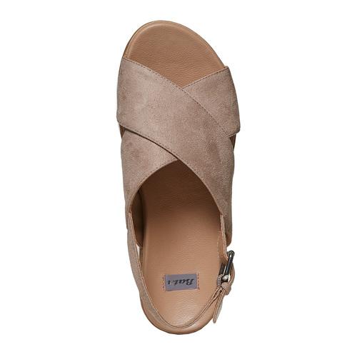 Sandali da donna con suola appariscente bata, beige, 569-2436 - 19