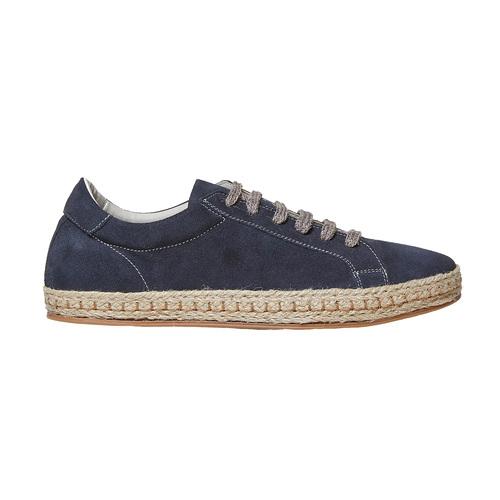 Sneakers in pelle con suola naturale bata, blu, 853-9317 - 15