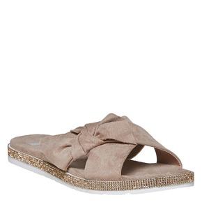 Slip-on marroni da donna bata, beige, 569-2413 - 13