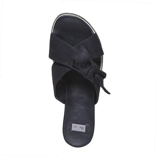 Slip-on da donna con strass sulla suola bata, nero, 569-6413 - 19