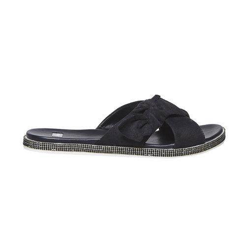Slip-on da donna con strass sulla suola bata, nero, 569-6413 - 15