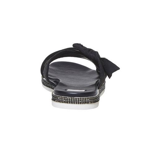 Slip-on da donna con strass sulla suola bata, nero, 569-6413 - 17