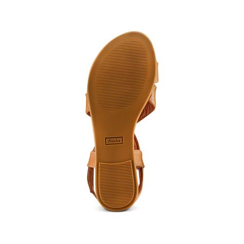 Sandali in pelle bata, marrone, 564-3443 - 19