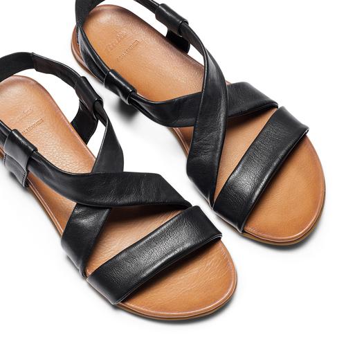 Sandali in pelle bata, nero, 564-6443 - 26