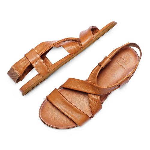 Sandali in pelle bata, marrone, 564-3443 - 26
