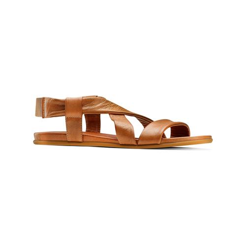 Sandali in pelle bata, marrone, 564-3443 - 13