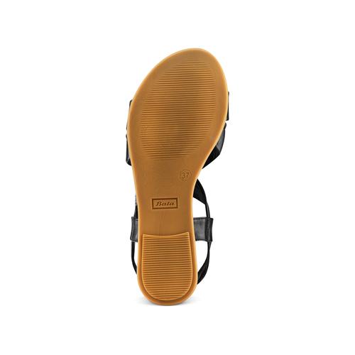 Sandali in pelle bata, nero, 564-6443 - 19