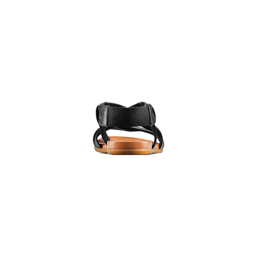 Sandali in pelle bata, nero, 564-6443 - 15