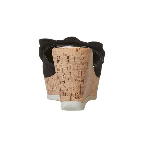 Slip-on in pelle con plateau in sughero bata, nero, 763-6234 - 17