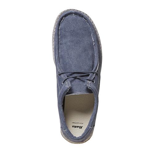 Mocassini casual blu da uomo bata, blu, 859-9280 - 19
