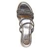Slip-on da donna con strass bata, nero, 771-6104 - 19