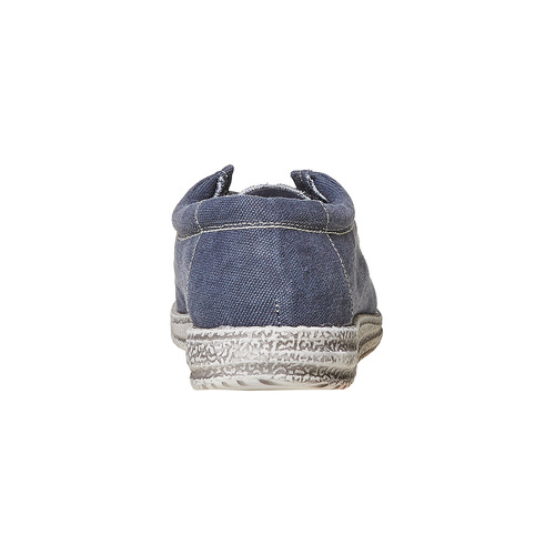 Mocassini casual blu da uomo bata, blu, 859-9280 - 17