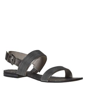 Sandali da donna con applicazioni decorative bata, nero, 561-6501 - 13
