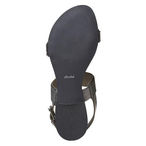 Sandali da donna con applicazioni decorative bata, nero, 561-6501 - 26