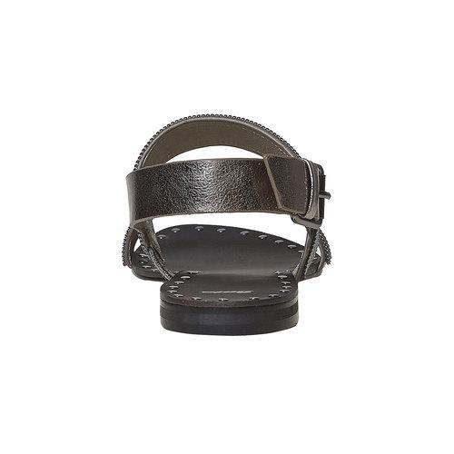 Sandali da donna con applicazioni decorative bata, nero, 561-6501 - 17