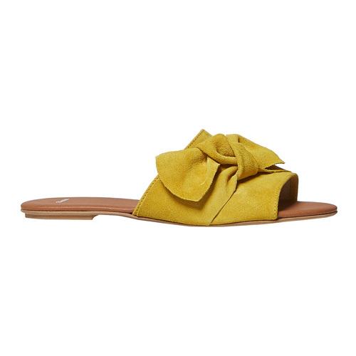 Slip-on in pelle da donna bata, giallo, 563-8411 - 15
