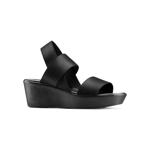 Sandali con fasce elastiche bata, nero, 779-6102 - 13