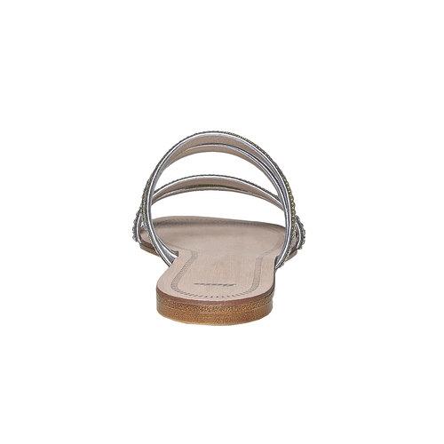 Slip-on da donna con strass bata, argento, 571-1353 - 17