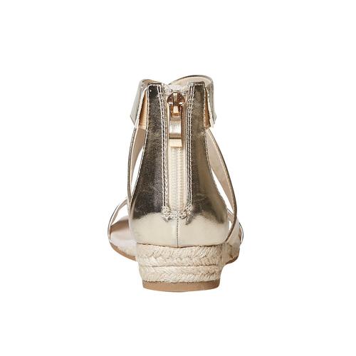 Sandali dorati da donna con zeppa bata, oro, 561-8505 - 17
