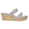 Slip-on da donna con plateau naturale bata, argento, 771-1104 - 15