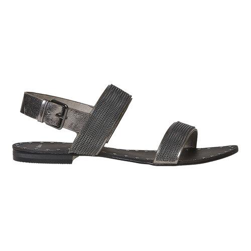 Sandali da donna con applicazioni decorative bata, nero, 561-6501 - 15