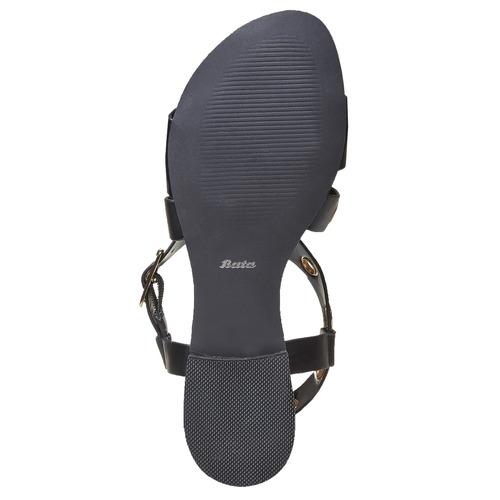 Sandali da donna con borchie di metallo bata, nero, 561-6500 - 17
