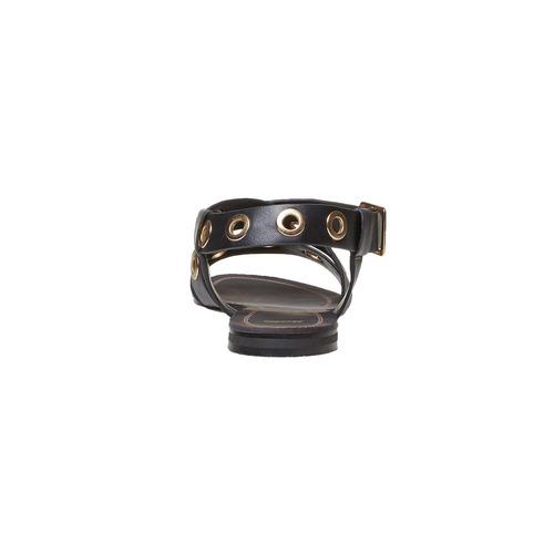 Sandali da donna con borchie di metallo bata, nero, 561-6500 - 16