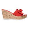 Slip-on da donna in pelle con plateau bata, rosso, 763-5234 - 26