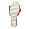 Slip-on da donna in pelle con plateau bata, rosso, 763-5234 - 17