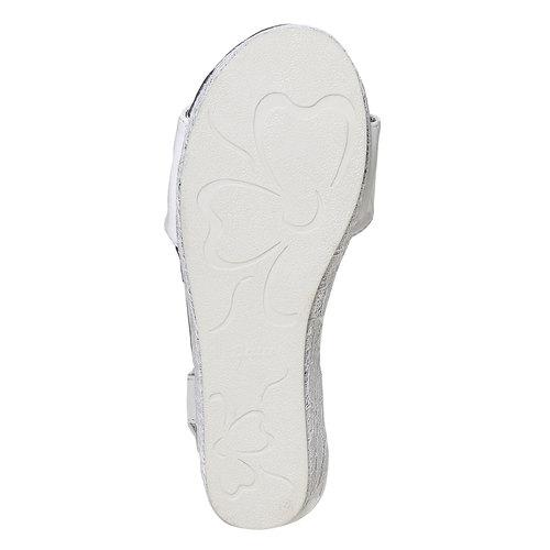 Sandali da ragazza con plateau basso mini-b, bianco, 361-1205 - 26