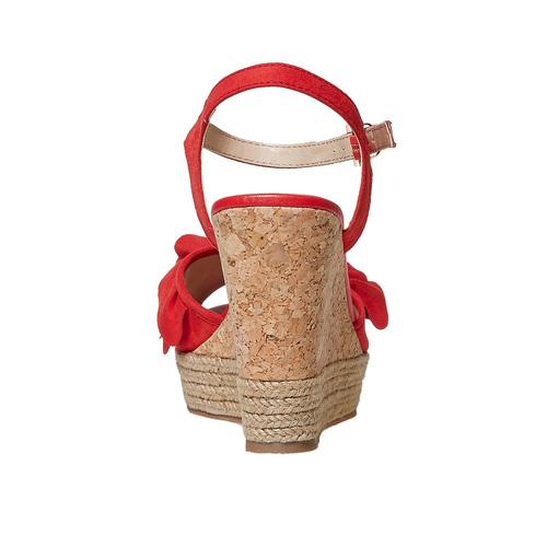 Sandali rossi da donna con balze bata, rosso, 769-5211 - 17