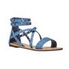 Sandali blu da donna con traforature bata, blu, 569-9410 - 13