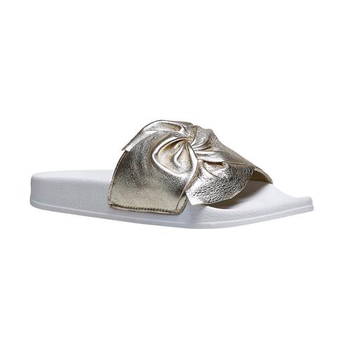 Ciabatte slides con fiocco bata, oro, 564-8116 - 13