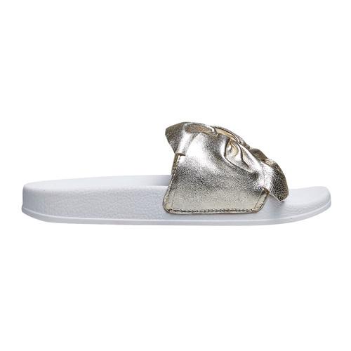 Ciabatte slides con fiocco bata, oro, 564-8116 - 26