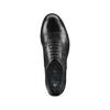Stringate in vera pelle bata, nero, 524-6661 - 17