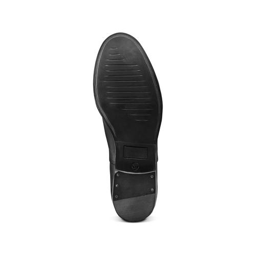 Stringate in vera pelle bata, nero, 524-6661 - 19