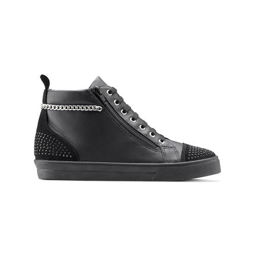 Sneakers alte con catena north-star, nero, 541-6203 - 26