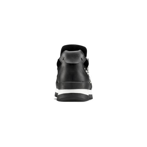 Sneakers nere con strass north-star, nero, 549-6294 - 16