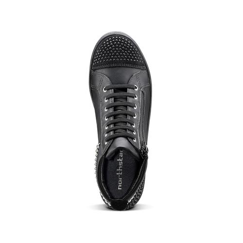 Sneakers alte con catena north-star, nero, 541-6203 - 15