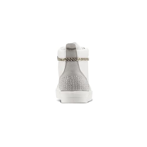 Sneakers alte con strass north-star, bianco, 541-1203 - 16