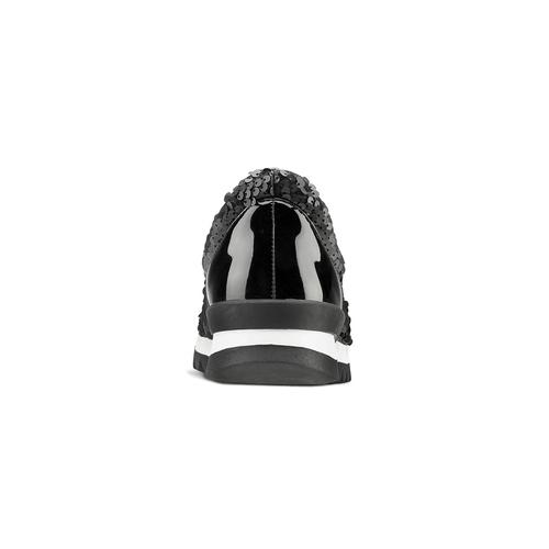 Scarpe donna con paillettes north-star, nero, 549-6295 - 16