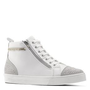 Sneakers alte con strass north-star, bianco, 541-1203 - 13