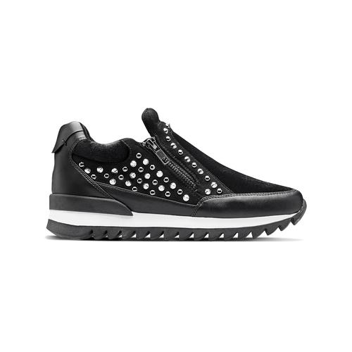 Sneakers nere con strass north-star, nero, 549-6294 - 26